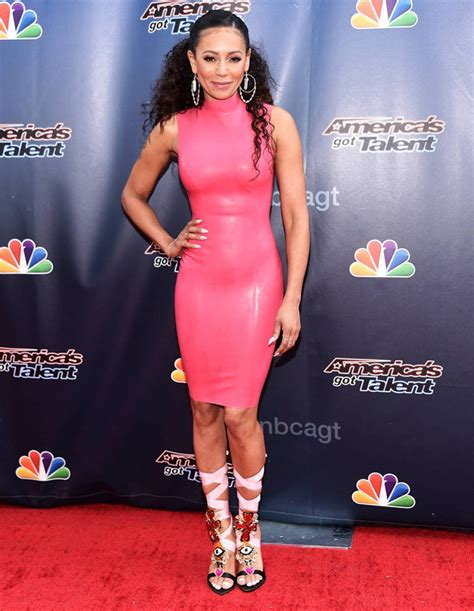 Mel Dres Pink mel b spice style eclipsed by dress at america