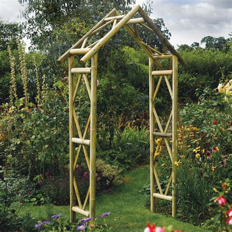 Garden Arch Materials Rustic Wooden Garden Arch Westmount Living