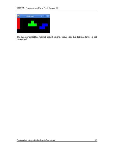 membuat game tetris pemrograman game tetris c