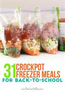 printable crockpot recipes 31 crockpot freezer meals for back to school free