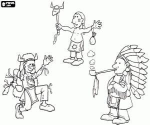 dibujos para colorear de palabras indigenas juegos de indios para colorear imprimir y pintar