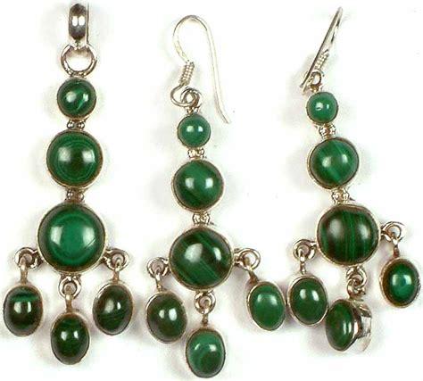 Chandelier With Matching Pendants Malachite Chandelier Pendant With Matching Earrings