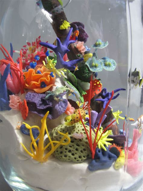 coral reef by jengineerr on deviantart miniature coral reef sculpture by sneekyfox deviantart com