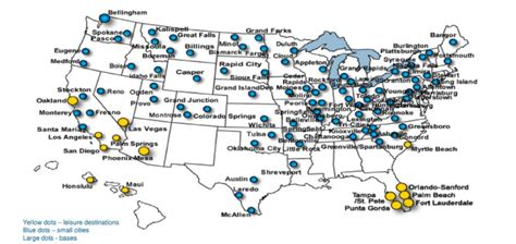allegiant air route map allegiant cites strong opportunities in the us market as new mexico service falls in importance