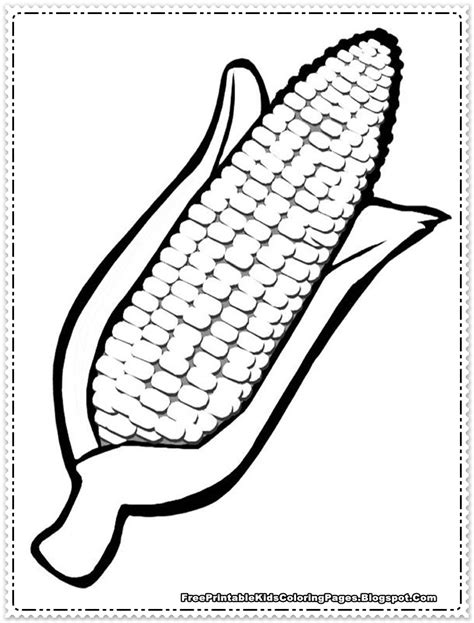 Corn Coloring Pages Printable corn coloring pages printable free printable