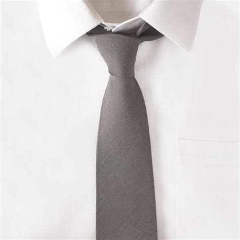 wool grey solid tie maxton