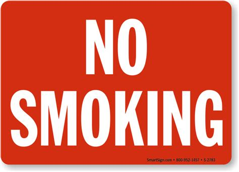 no smoking sign picture no smoking sign striking red with white sku s 2783