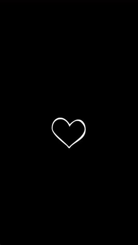 simple heart symbol black background iphone  wallpaper