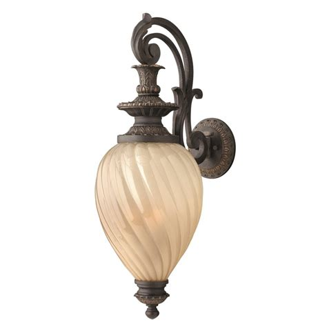 Exterior Regency Style Wall Lantern Aged Iron Support And Decorative Wall Lighting