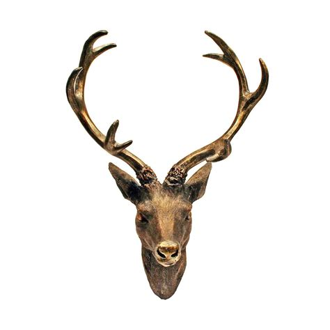 Decorative Deer by Wall Mounted Decorative Stag Deer Heads Ebay