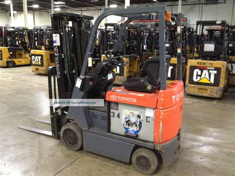 2007 Toyota Capacity 2007 Toyota 7fbcu18 3500 Lb Capacity Electric Forklift