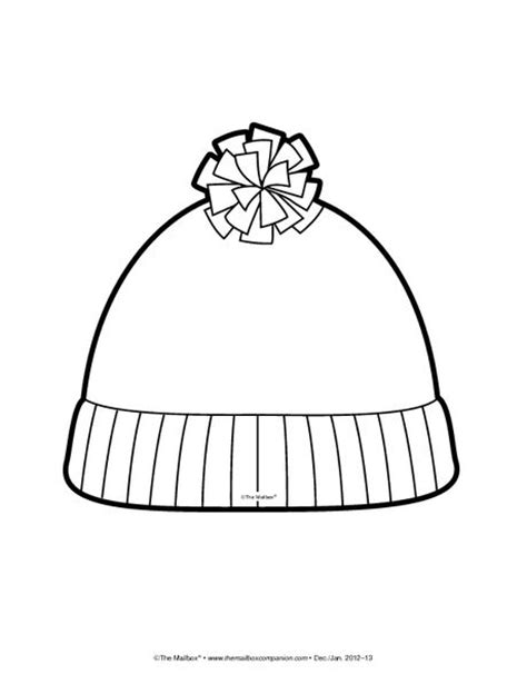 Short Stocking Hat Coloring Page Ikverno Pinterest Winter Hat Coloring Page