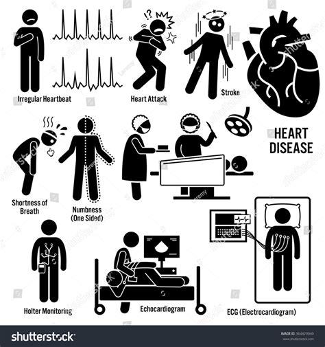 illness symptoms cardiovascular disease attack coronary artery stock