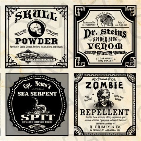 printable poison labels 2 square halloween witch labels poison apothecary tags