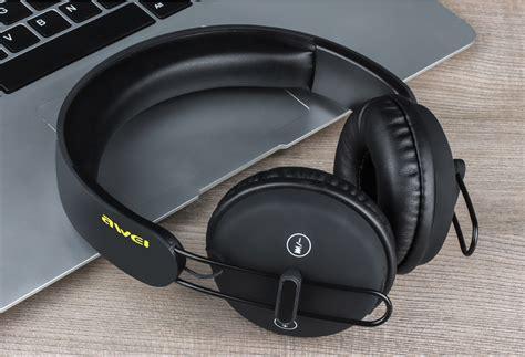 Awei Earphone Headset Bluetooth Sport Wireless With Microphone Murah awei a800bl wireless bluetooth headphones with mic black