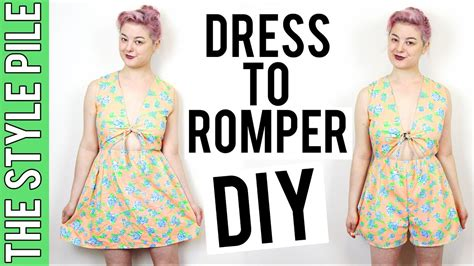 how to make a diy dress from a mans dress shirt fashion dress to romper diy the style pile 12 youtube