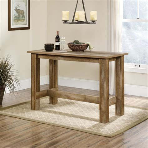 oak counter height table counter height dining table in craftsman oak 416698