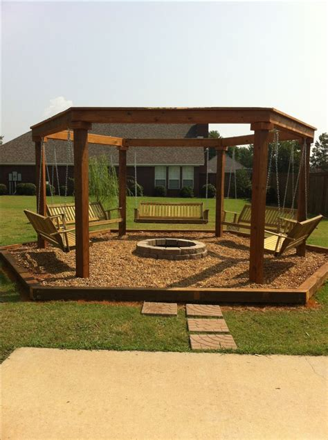 Outdoor Fire Pit With Swings Outdoor Firepit Pinterest Firepit Swing