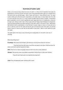 Water Cycle Essay by Summary Of Water Cycle