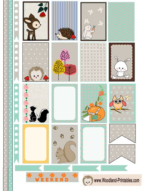free printable stickers happy planner free printable woodland planner stickers