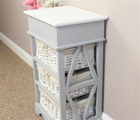 shabby chic storage baskets shabby chic wicker basket storage unit ebay
