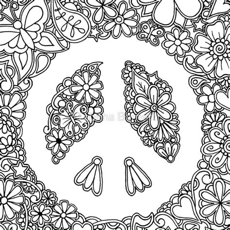 coloring pages for adults peace 72 best hippie art peace signs coloring pages for adults