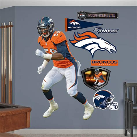 Denver Broncos Birthday Card Template by Shop Denver Broncos Wall Decals Graphics Fathead Nfl