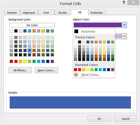 color pattern exle how do i add a background color or pattern to excel cells