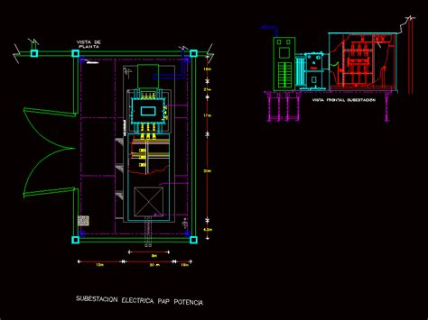 electrical substation dwg plan  autocad designs cad