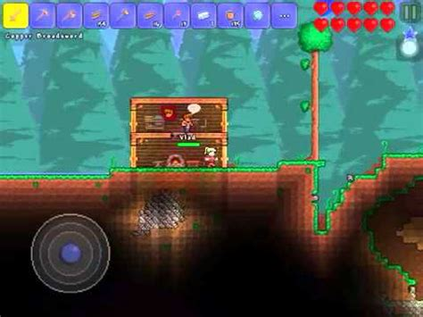 terraria ios let s play 2 bed and copper helmet