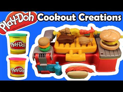 Doh Barbeque Set play doh cookout creations barbecue grill playset unboxing