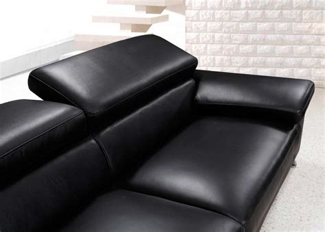 Modern Black Leather Sofa Set Vg724 Leather Sofas Black Leather Contemporary Sofa