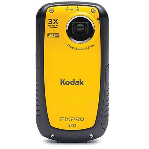 kodak waterproof kodak pixpro spz1 waterproof digital camcorder spz1 b h photo