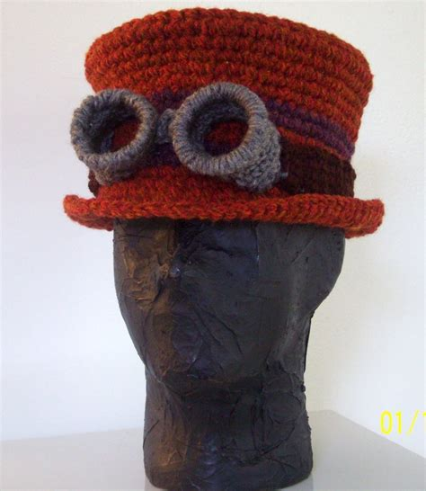 artist hat pattern steunk tophat with goggles by cajunvixen on deviantart