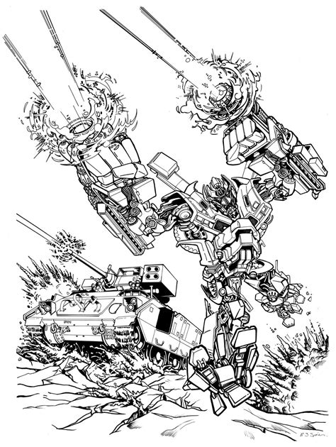 free coloring pages of ironhide transformers 2