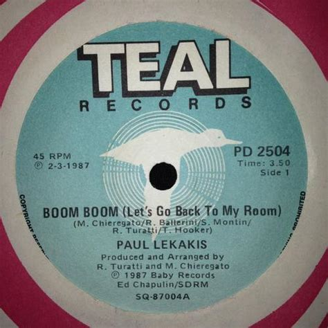boom boom boom lets go back to my room electronica paul lekakis boom boom let s go back to my room 7 quot single 45rpm for sale in