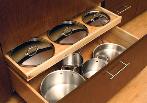 kitchen storage ideas for pots and pans dura supreme cabinets kitchen storage ideas for pots