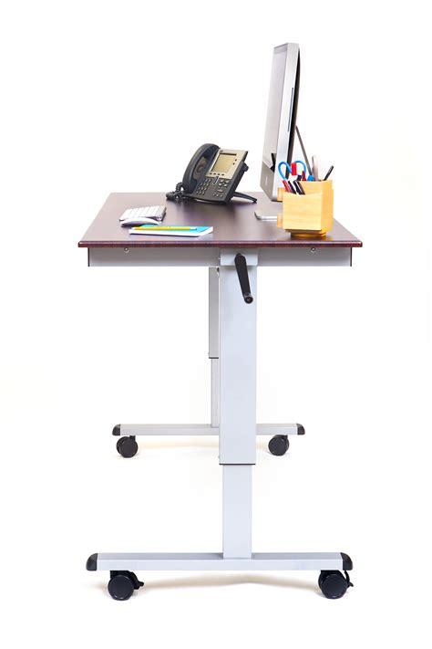 luxor stand up desk luxor 60 hand crank adjustable stand up desk notsitting com
