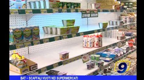 scaffali supermercato bat scaffali vuoti nei supermercati