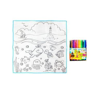 My 123 Colouring Set Buku Gambar Anak jual st4rshop fantastic color mainan mewarnai marine organisms set harga kualitas