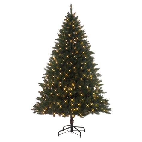 stop and shop prelit christmas trees showtime 7 pre lit emerald peak tree with multicolor lights shop your way