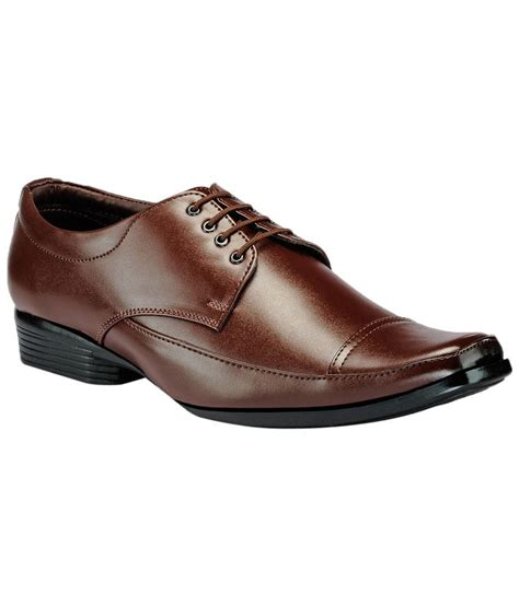 yepme brown lace up formal shoes for price in india