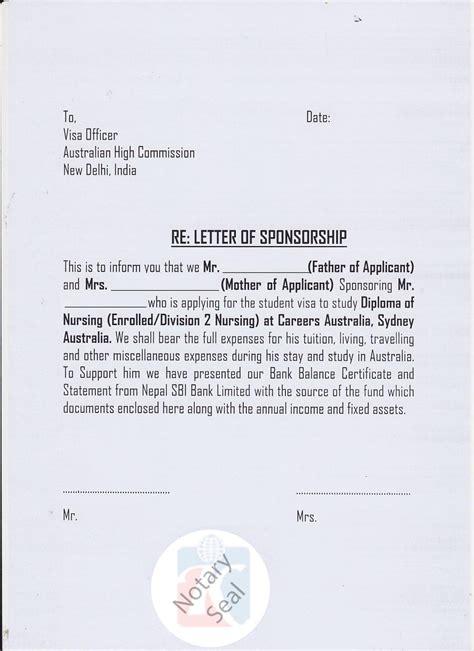 sponsorship certificate affidavit of support kiec