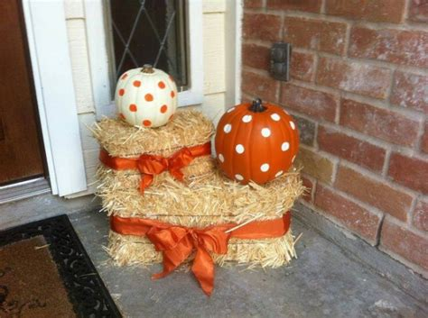 fall hay bale decorating ideas 50 of the best diy fall craft ideas kitchen