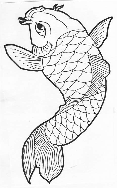 tattoo koi drawing simple draw koi fish tattoo design tattooshunter com