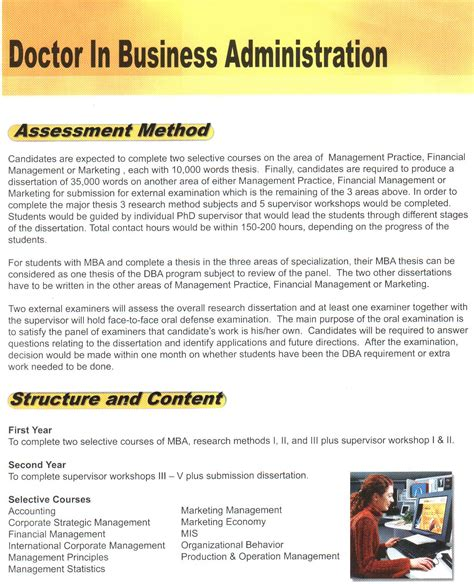 Mba Without Honours by Dba Honor Dba Doctor In Business Administration