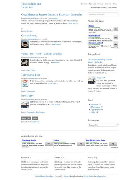 template blogger seo friendly gratis gadget blog