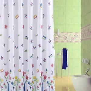 fabric shower curtain liner vs vinyl waterproof shower curtain image is loading blue magnolia