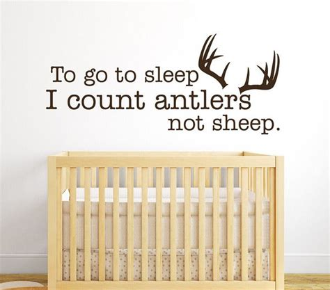 count antlers wall decal wall to go to sleep i count antlers not sheep wall decal