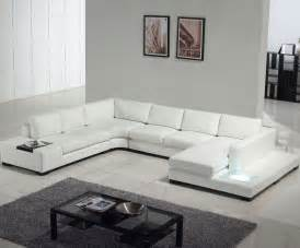 White Leather Sectional Sofas 2 309 Tosh Furniture Modern White Leather Sectional Sofa Set 866 594 6890